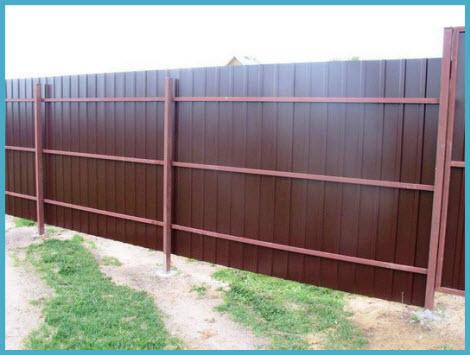 Забор из профнастила без фундамента своими руками