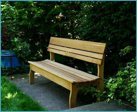 Скамейка садовая со спинкой из дерева своими руками