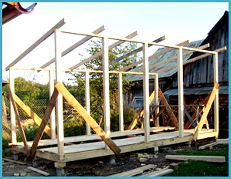 прихожей построить сарай с односкатной крышей ролевая