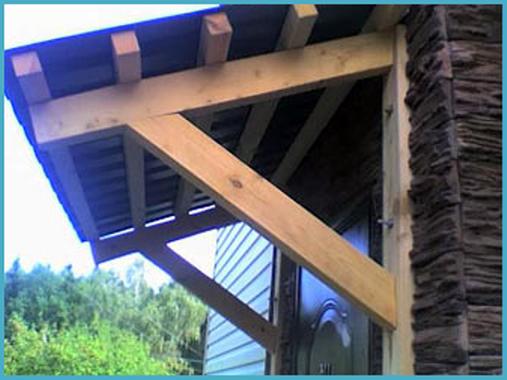 Козырьки деревянные фото