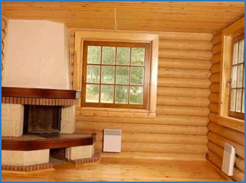 отделка блок хаусом внутри дома