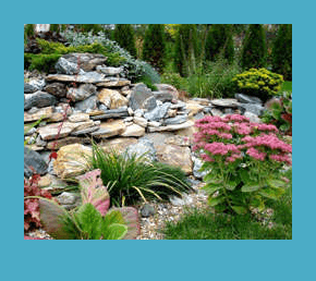 Природный камень в вашем саду 8