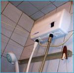 Установка электрического водонагревателя