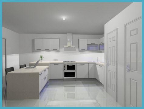 Дизайн белой кухни 3