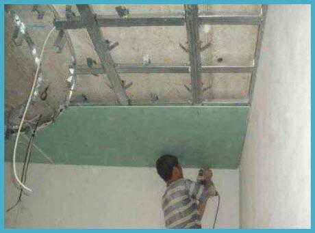 Как сделать потолок из гипсокартона 4