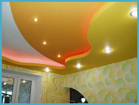 Как сделать потолок из гипсокартона 1