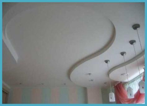 Как сделать потолок из гипсокартона 5