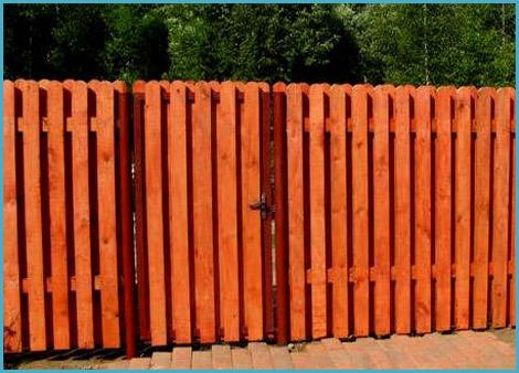 Деревянные штакетники для забора своими руками