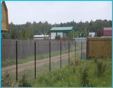 Забор из рабицы своими руками 4