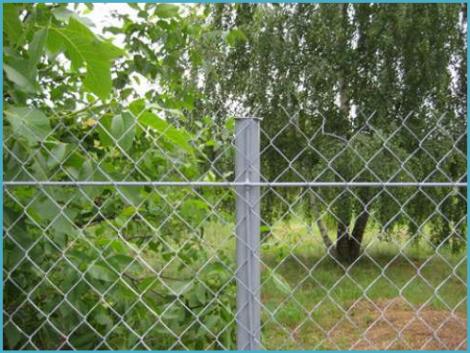 Забор из рабицы своими руками 3