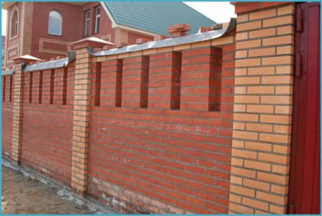 Кирпичный забор своими руками 1