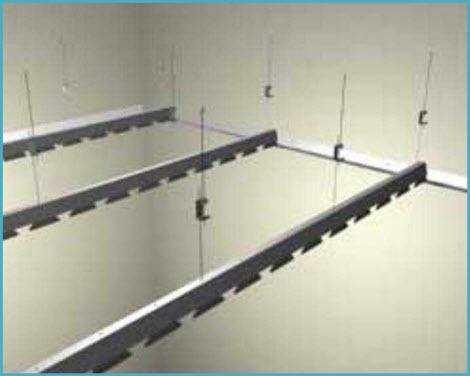 Потолок в ванную реечный подвесной 3