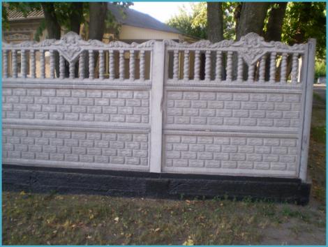 Установка бетонного забора 3