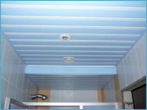 Потолок в ванную реечный подвесной 5