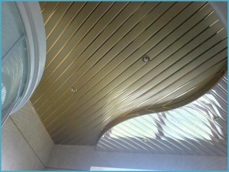 Потолок в ванную реечный подвесной 1
