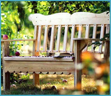 Садовая скамейка своими руками 4