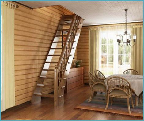 лестница деревянная в доме фото