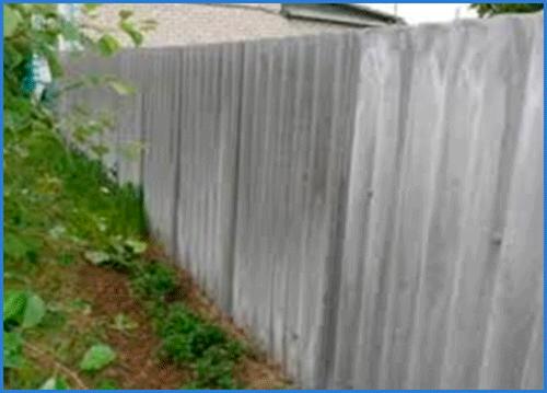 Забор из шифера своими руками 6
