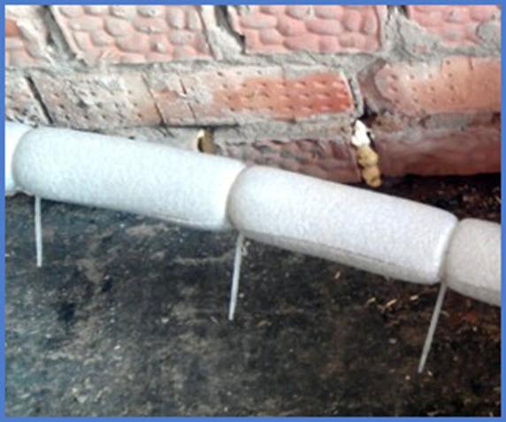 Чем утеплить трубы отопления на улице 2